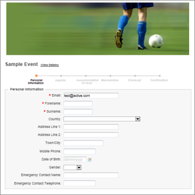 custom league registration forms